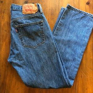Men's Levi's 501 Button Fly Jeans Med Wash 31 x 30